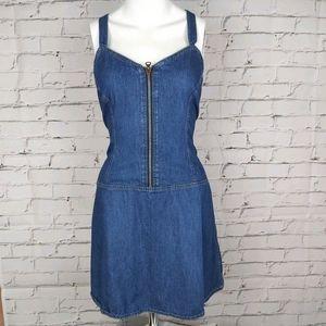 Diesel Denim Zipper Front Mini Dress